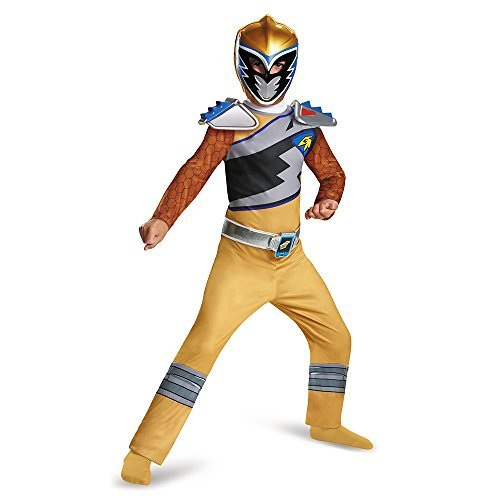 Disguise Gold Ranger Dino Charge Classic Costume, Large (10-12) by Disguise (Power Rangers Gold Ranger Costume)