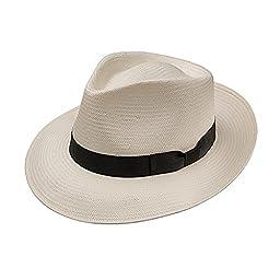 Stetson Reward Shantung Straw Hat (Small, Natural)