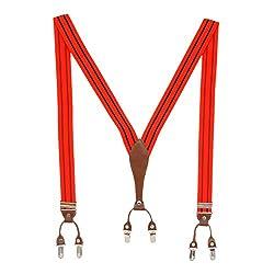 Silverbull Flossy Red Suspender For Men