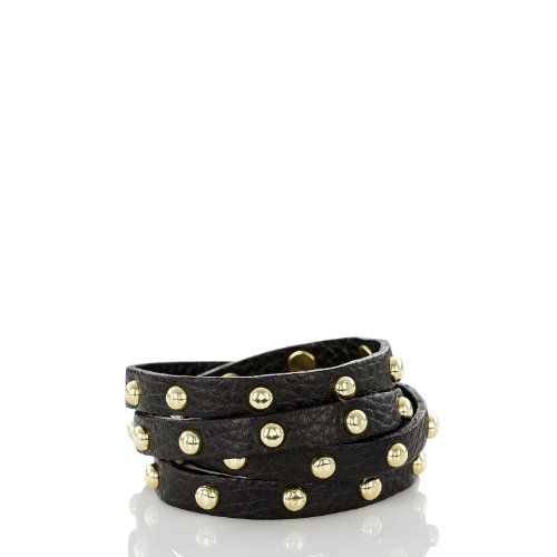 Stud Wrap Bracelet<br>Black Nepal
