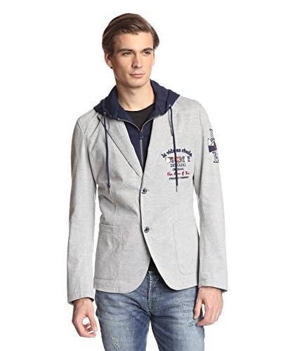 Desigual Men's Knit Blazer with Hood