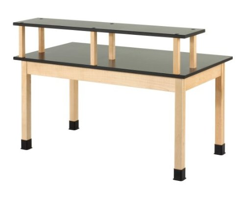 Picture of fixed height riser table finish maple surface for Table th fixed width