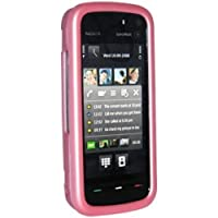 Amzer 83371 Rubberized Baby Pink Snap On Crystal Hard Case For Nokia 5800 Navigation Edition, Nokia XpressMusic...