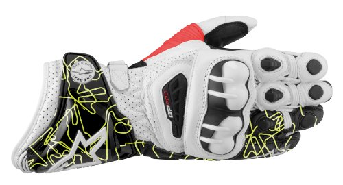 Alpinestars GP Pro Gloves 2013 Model White/Black/Yellow Fluo Tracks XL X-Large