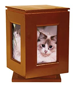Classic Products Keepsake Pet Memorial Display, Large Rotating 6″ x 9″, Honey Maple