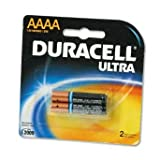 Duracellreg; Ultra Alkaline Batteries, AAAA, 2/pack