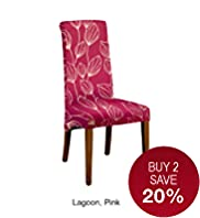 Alton Scroll Back Dining Chair (Dark Leg)