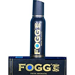 Fogg Fresh Aromatic Body Spray Deodorant For Men, Black, 120ml