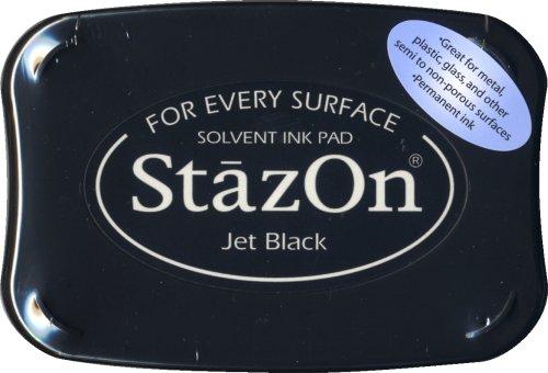 Tsukineko Full-Size StazOn Multi-Surface Inkpad, Jet Black