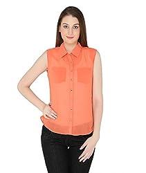 Fashion Tadka West Orange Shirts For Women