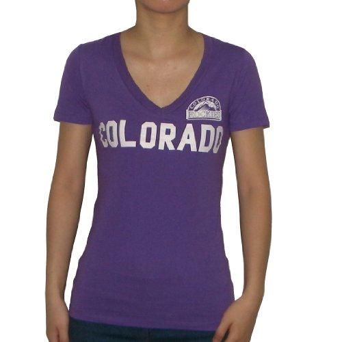 Womens Mlb Colorado Rockies V Neck T Shirt By Pink