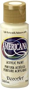 DecoArt Americana Acrylic Paint, 2-Ounce, Light Buttermilk