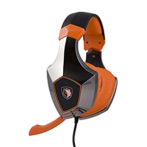 Sades A60 7.1 Channel Surround Stereo PC Pro USB Gaming Headset Headphone with High Sensitivity Mic Vibration / Flashing Light-- Metal Version / Electroplating Version (Black)