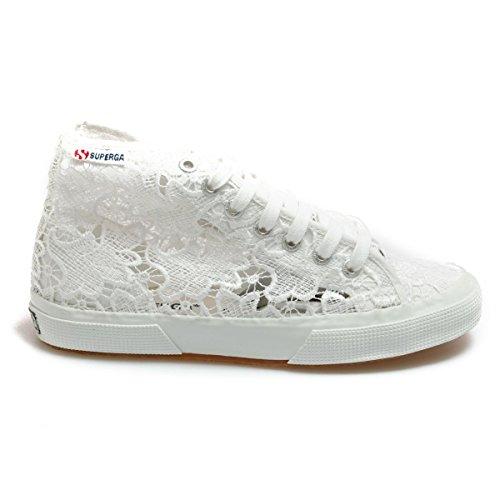 Superga 2795-Macramew, Sneaker, Donna, Bianco (901 White), 37