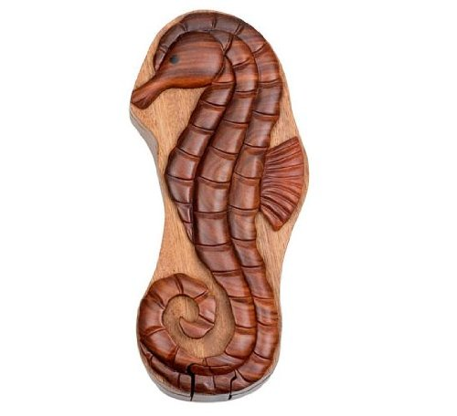 Picture of Fun Sea Horse - Secret Wooden Puzzle Box (B002P8VELY) (Brain Teasers)