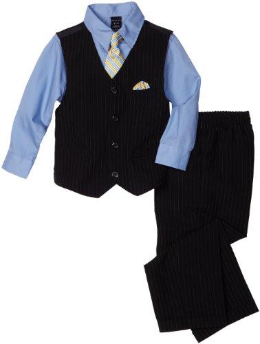 Nautica Dress Up Little Boys' 4 Piece Dresswear Vest Set, Navy, 3T/3