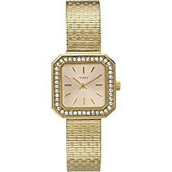Timex Premium Classic Gold-Tone Band White Dial Women's Watch