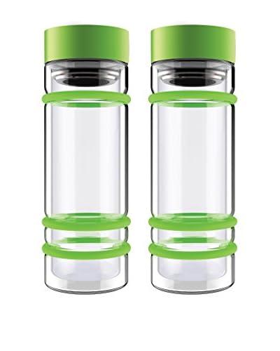 asobu Set of 2 Bumper Tea Bottles