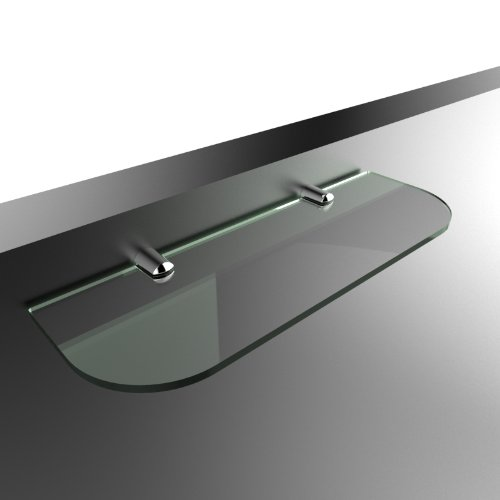 Straight Acrylic Safety Shelf 300mm x100mm, Bathroom, Bedroom, Office, Glass Effect