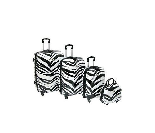 International Traveller 1141/4-zeb Shiny Zebra Print Set