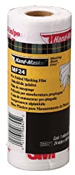 3M Hand-Masker Pre-Folded Masking Film Plus, 24-Inch by 180-Foot