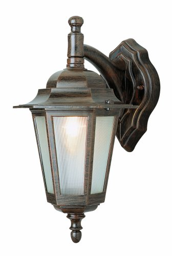 Trans Globe Lighting 4056 BK 14-1/2-Inch 1-Light Outdoor Down Wall Lantern, Black
