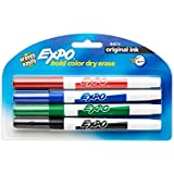 Expo Original Dry Erase Markers, Fine Point, 4-Pack, Assorted Colors