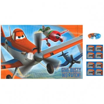 Amscan Disney Planes 2 Birthday Party Game (1 Piece), Blue/Orange, 37 1/2 x 24 1/2""