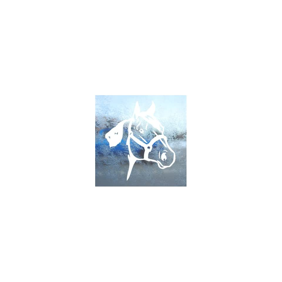 Quarter Horse White Decal Car Laptop Window Vinyl White