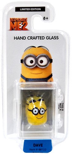 Despicable Me 2 Glassworld minion Hand Crafted Glass - Dave - 1