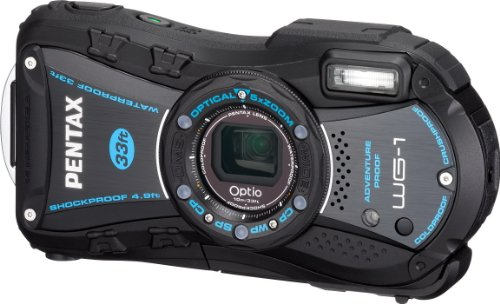 PENTAX Optio WG-1 14 MP Rugged Waterproof Digital Camera with 5X Optical Zoom and 2.7-inch LCD (Black)