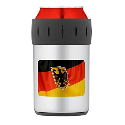 Thermos Can Drink Cooler German Flag Waving