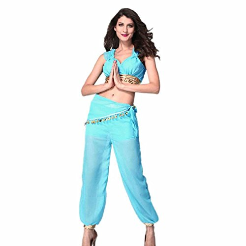 L04BABY Pants Coat Sexy Genie Halloween Costume Blue Size