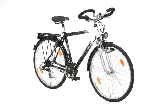 texo herren fahrrad trekking schwarz lf wei rahmenh he. Black Bedroom Furniture Sets. Home Design Ideas