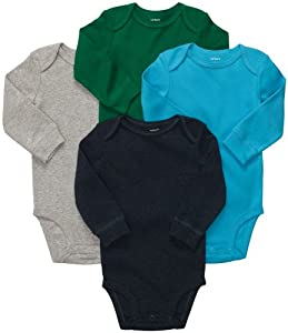 Carter's Baby Boys 4-pack Long-sleeve Bodysuits (NB-24M) by Carters
