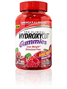 Hydroxycut Pro Clinical Gummies, 80 Count Buy One Get One Free, 160 Count Total