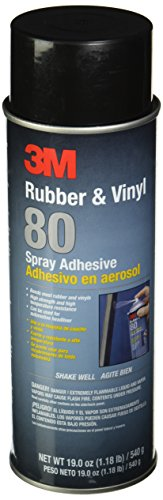 3M 80 Rubber and Vinyl Adhesive Spray, 24 oz Aerosol Spray (Net Weight 19 oz) (3m Rubber Sealant compare prices)