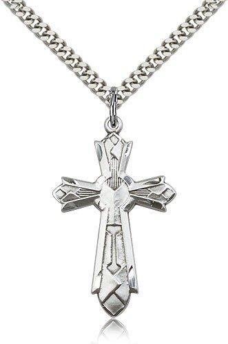 Mosaic Cross Pendant, Sterling Silver