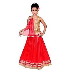 SAARAH Red Lehenga Choli Set (EMP3221)