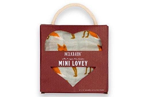 Milkbarn Mini Lovey Baby Blanket (Orange Fox)