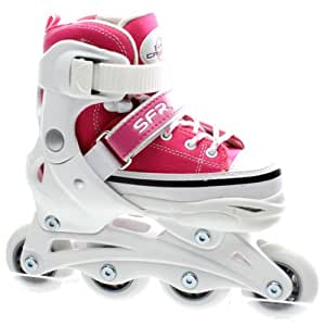 SFR Camden Girls Adjustable Inline Skates - Large (UK3 - UK6)