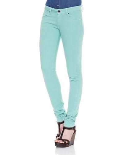 Carrera Jeans Pantalón Color Stretch Skinny Verde