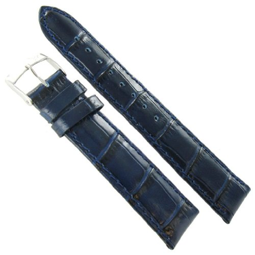 20mm Morellato Samba Italian Leather Alligator Grain Navy Blue Watch Band 2704 morellato r0151137504