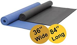 Buy Colorful Yoga Mats (TM) Extra Wide and Extra Long 1 4'' Deluxe Yoga Mat by Colorful Yoga Mats (TM)