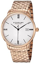 Stuhrling Prestige Men's 307B.33442 Prestige Swiss Made Kingston Grand Quartz...