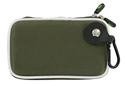 Slim Nylon Hard Shell Case (Olive Green) for Garmin nüvi 1390/1390T 4.3-Inch