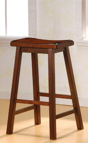Coaster 29-Inch Dining Barstool, Walnut Set of 2