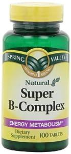 Spring Valley - Super B-Complex, 100 Tablets