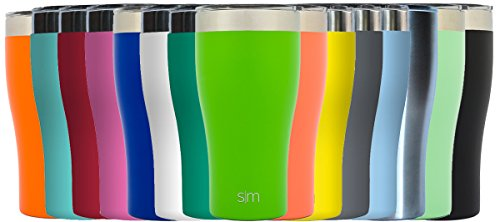 Simple Modern Tumbler Vacuum Insulated 20oz Slim Cruiser with Lid - Double Walled Stainless Steel Travel Mug - Sweat Free Coffee Cup - Compare to Yeti - Powder Coated Flask - Candy Apple Green