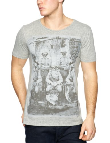 Firetrap Soldiers Printed Men's T-Shirt Grey